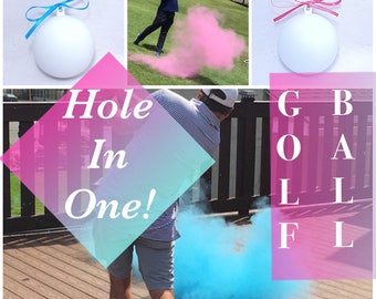 GOLF BALL Gender Reveal Gender Reveal Ideas Golf Ball Reveal Gender Reveal Ball Gender Reveal Party Reveal Ball Girl Boy