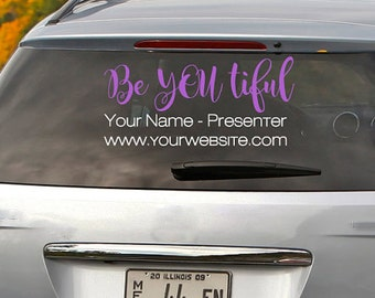 Younique Car Decal Etsy - Custom window clings for cars