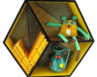 "Hexagonal shelf ""Ted"""