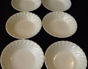 Johnson Brothers Regency White Fruit Dessert Sauce Bowl set of 4