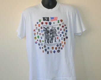 Screen Stars Vietnam Veterans Memorial Washington DC T-Shirt XL