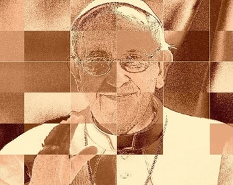 Pope Francis Souvenirs Pope Easter Digital Pop Art Pope Shirts Memorabilia DIY Posters Buttons Mugs Magnet Decals