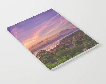 Sunset Notebook, Nature Notebook, ocean journal, bullet journal, pocket journal, pink notebook, colorful journal