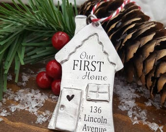 First Home Christmas Ornament | Our First Home Ornament | First Home Gift | Housewarming Gift | House Closing Gift | Christmas New House