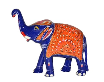 """Royal Arts And Crafts Decorative Beautiful And Gifting Handcrafted Show Piece Of 6"""" Metal Elephant For Home Decor And Gifting"""
