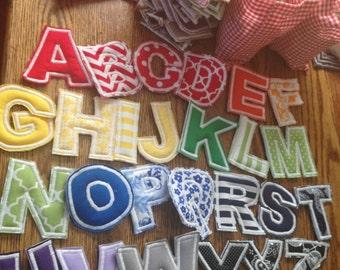 Fabric Stuffed Alphabet