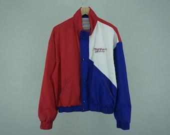 Swingster Jacket Men's Size XL Vintage Swingster Activewear Burnham Racing Jacket