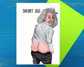 Smart ass Greeting card