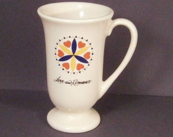 Pennsylvania Dutch German Hex Sign Mug Love and Romance