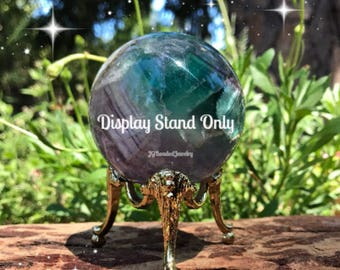 Crystal Ball Display Stand, Sphere Holder, Golden Decorative Egg Stand, Globe Orb Tripod Display