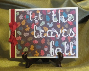 Let the Leaves Fall canvas with stand