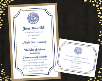 College Graduation Invitations Announcements Bachelor's Degree Layered Announcements Graduation Announcements