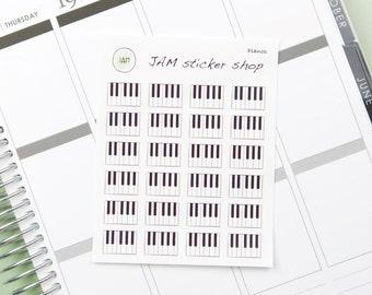 Piano Key Stickers