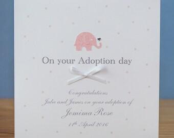 Personalised Adoption Card - Handmade Adoption Card - Personalised on your adoption card - Adoption Cards