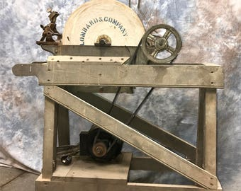Lombard Genuine Nova Scotia Grinding Stone Sharpening Wheel Millstone Grinder