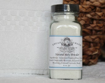 Natural Baby Powder NOW 6oz. SIZE!