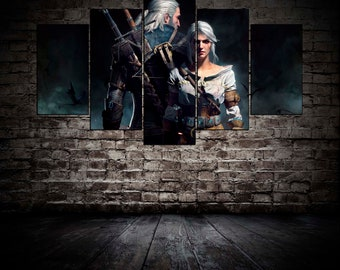 Witcher print Geralt wall art Witcher poster Witcher wall decor Geralt of Rivia poster Witcher canvas Geralt Art Gift for gamer Witcher art