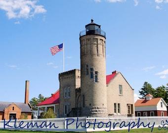 Mackinaw City Lighthouse #2 11x14 Matted Print