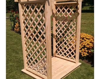 Pressure-Treated Pine Covington 5ft. Garden Arbor With Deck