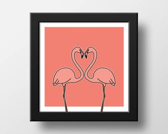 Poster - Love Flamingo