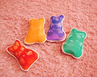 Mscheap handmade bear candy print brooch