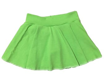 Green Skirt (Lime Green Skirt,Baby Skirt,Toddler Skirt,Kids Skirt,Girls Skirt,Dance Skirt,Ballet Skirt,Twirl Skirt,Circle Skirt,Skater Skirt