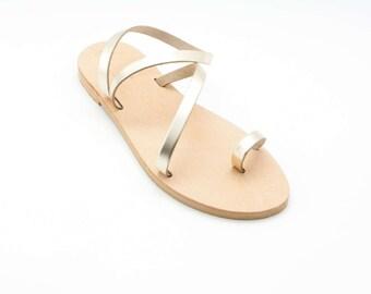 Bridesmaid sandals, bridal sandals, Greek sandals, summer strappy sandals,