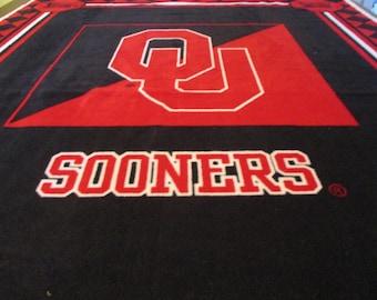 Oklahoma Sooners 2 ply  Fleece Blanket