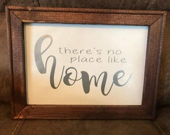 No PLace like Home Reversed Canvas Sign