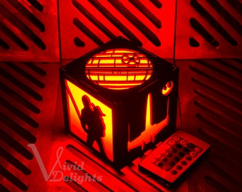 Star Wars Inspired Lantern - Luke Skywalker, Han Solo, Princess Leia, Yoda, Death Star