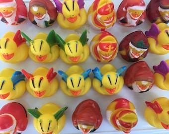 Vintage Mini Rubber Ducks, 23 Assorted Mini Ducks, Rubber Duck Party Favors