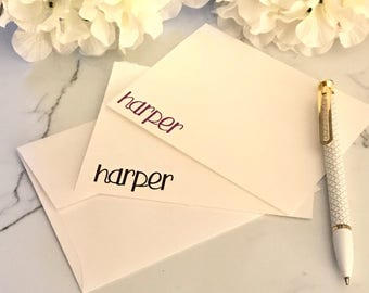 Name Note Card Set