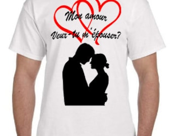 Tshirt - Love you marry me