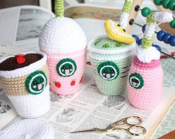 Crochet Pattern Starcutes Buddies Amigurumi Food Coffee Crochet Amigurumi Coffee+ BONUS pattern! Frappuccino, Ice tea, Coffee and more