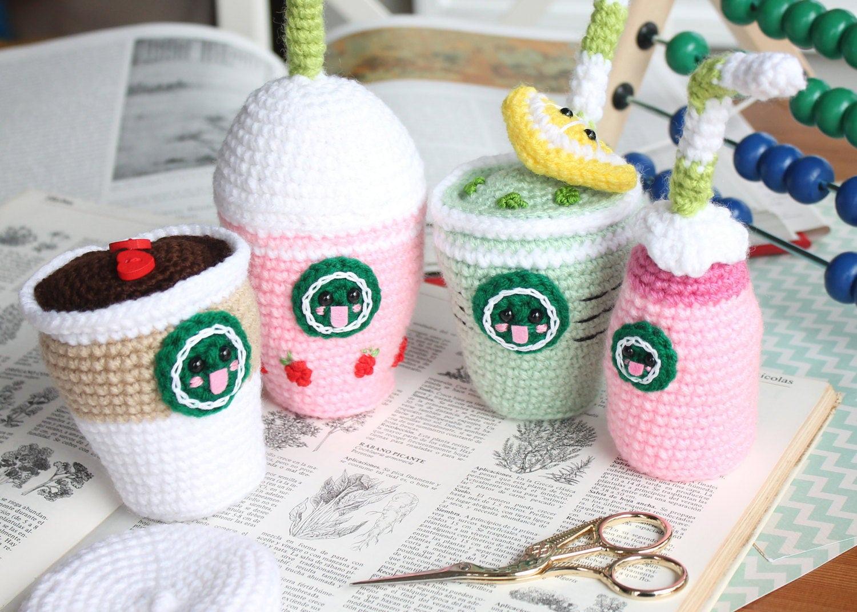 Amigurumi Food : Crochet pattern starcutes buddies amigurumi food coffee