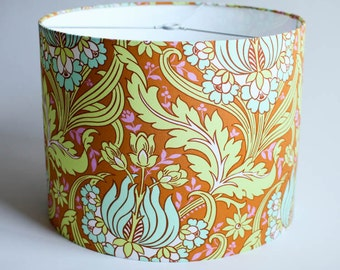"Drum Lamp Shade // 12"" d x 9"" h //  Amy Butler Fabric - Soul Blossoms"