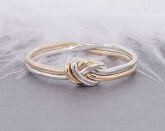 Nautical Knot Ring Infinity Ring - Minimalist Ring Celtic Ring - Gold and Sterling Silver Alternative Promise Ring