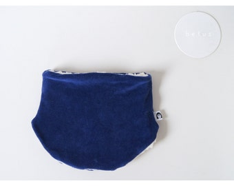 organic cotton kids scarf blue