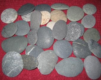 20% OFF SALE, 50 Beach Stones, Medium Beach Stones, Craft Supplies, DIY Wedding Decor, Wedding Guest Book Alternative, Wishing Stones