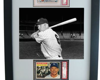 Graded Sports Card Frame for (2) PSA Horizontal Cards * 8 x 10 Horizontal Photo Opening
