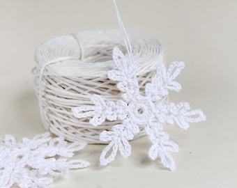 Crochet snowflake set 6 pcs,  Christmas tree ornaments, Christmas gift, Christmas Crochet snowflake, home decor, White snowflakes