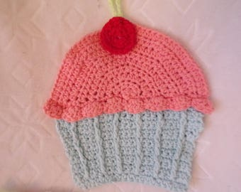 Crochet Cotton Cupcake  Dish cloth or Pot holder