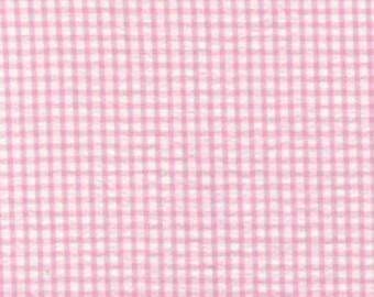Pink Seersucker Fabric - Seersucker Check Fabric Pink - Fabric Finders