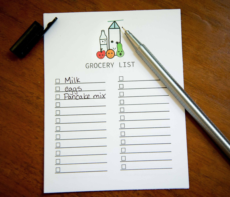 Einkaufsliste druckbare