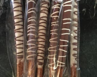 1 Dozen Chocolate Dipped Pretzel Rods