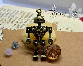 1 pcs QDW313 pendant, Bronze, robot