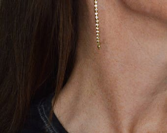 Crystal Rhinestone Earrings, Luxury Style Ear Hoops, Rhinestone Dangle Earrings, Fashion Chic Crystal Hoop Earrings, Brass Hoop Earrings