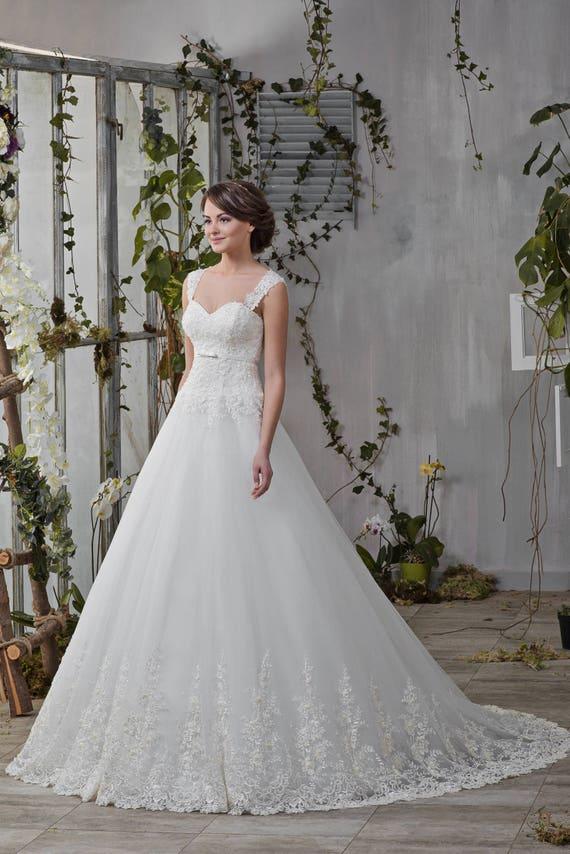 Melissa Wedding wedding wedding dress lace dress dress Princess Elegant F8CqBwF