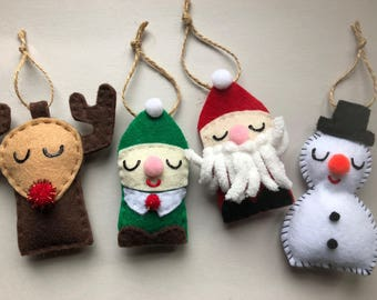 Christmas Ornaments! (Set of 4)