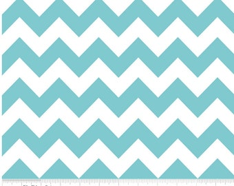 Medium Chevron Aqua  by Riley Blake Designs Fat Quarter